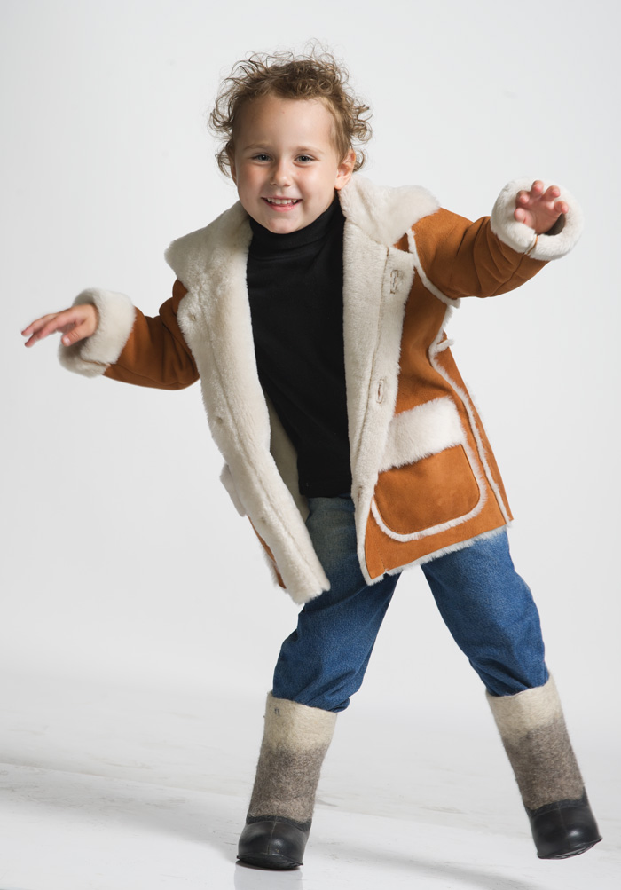 Sheepskin jacket Ramili Ricamo